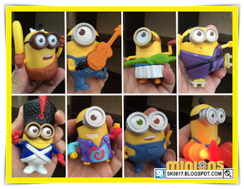 McDonald's Happy Meal Minions Toys Collection