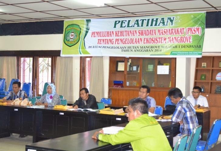 Pelatihan PKSM Pengelolaan Ekosistem Mangrove Oleh BPHM Wilayah I dan Disbunhut Kab. Kutai Kertanegara