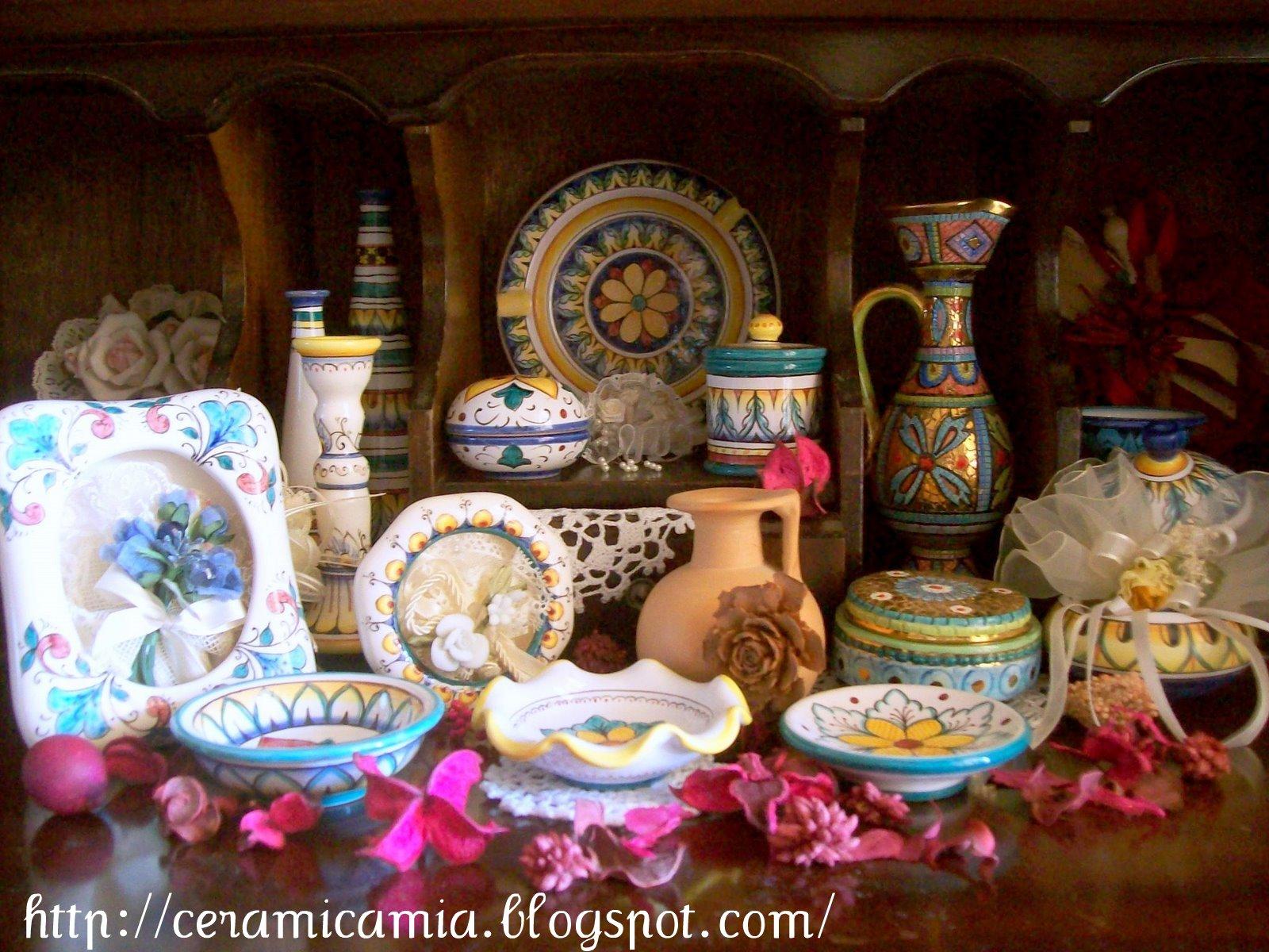 Vintage meridiana ceramiche italian deruta espresso cups