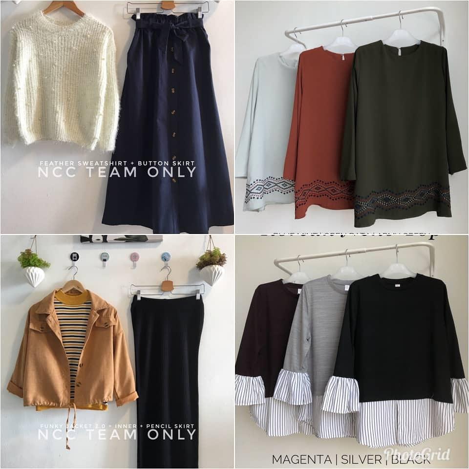 Terbaru!!! Pelbagai koleksi pakaian casual plus size pun ada
