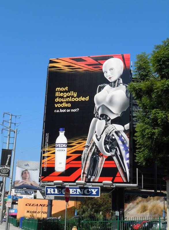 Svedka illegally downloaded vodka billboard