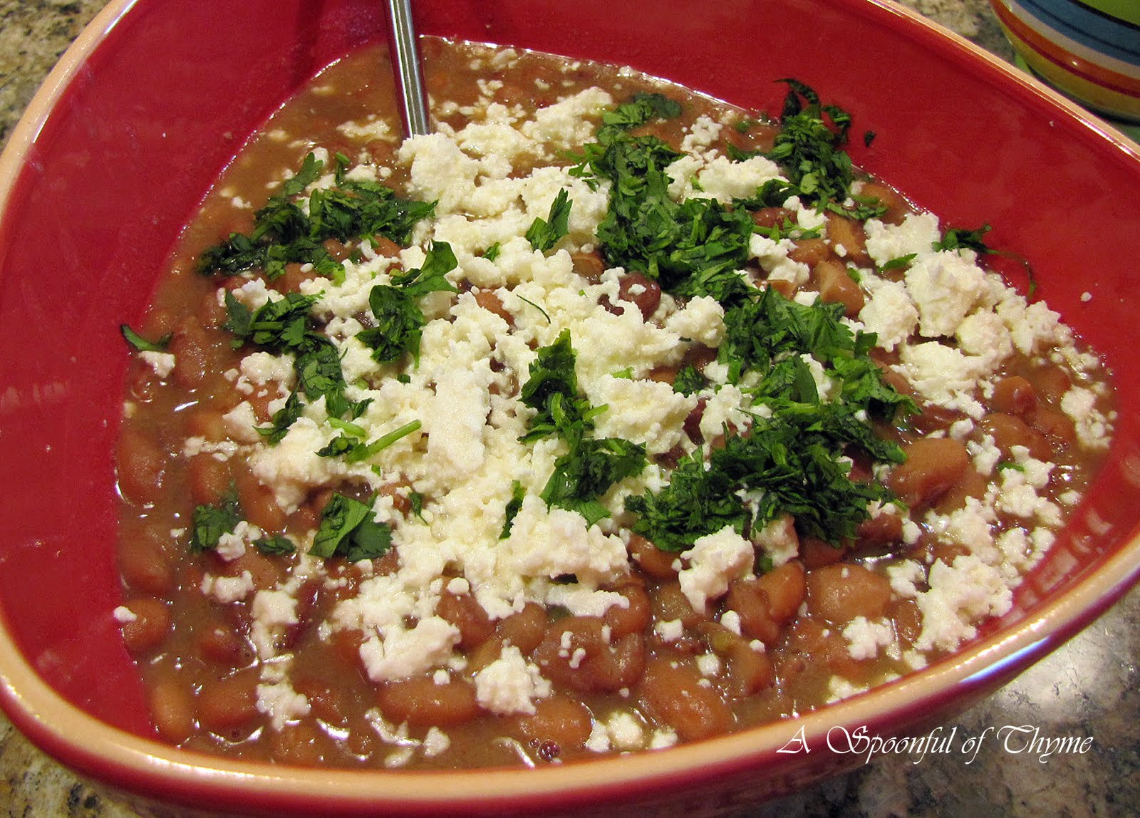 Spoonful of Thyme: And Now for the Bacon-Simmered Pinto Beans!