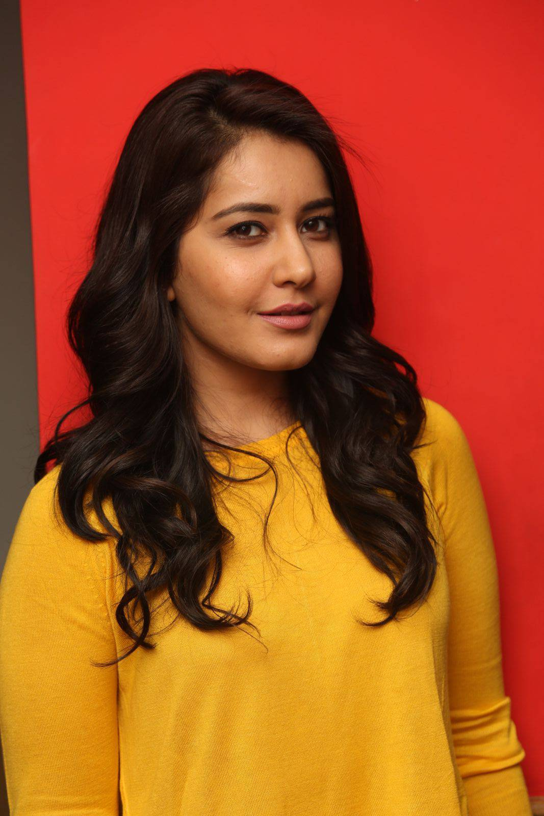 Rashi Khanna Latest Stills At Bengal Tiger Movie App Launch