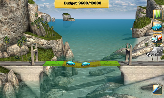 Bridge Constructor game for Windows Phone 8