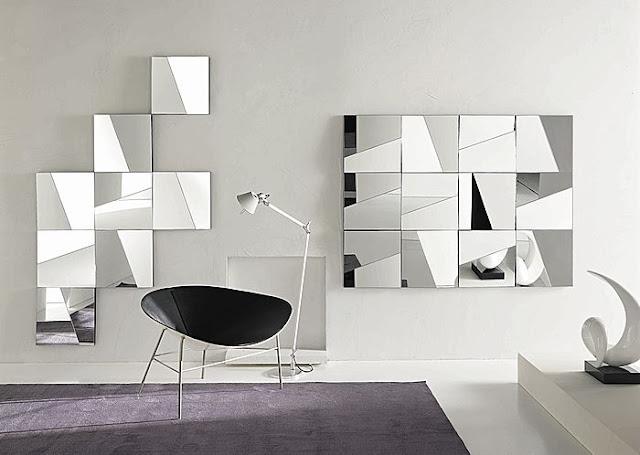 Puerta al sur espejos como cuadros for Como poner un espejo en la pared