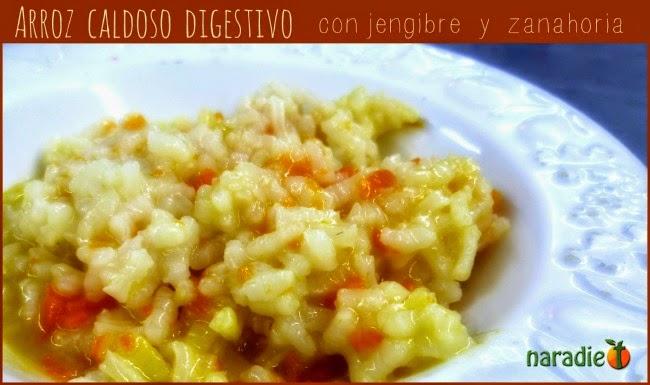 arroz caldoso con jengibre y zanahoria