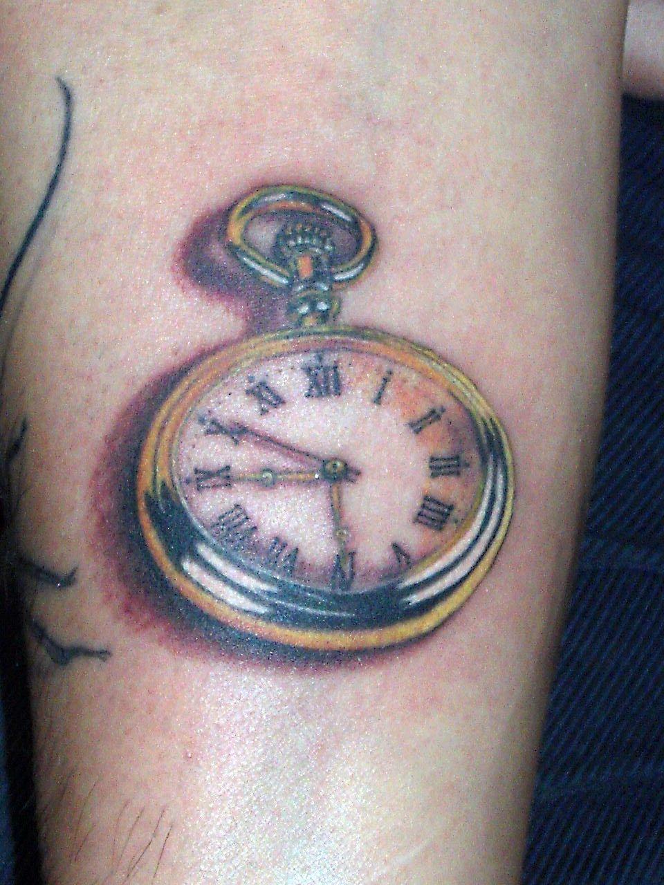 Tatuajes l f a tatuaje reloj de bolsillo for Reloj para tatuar