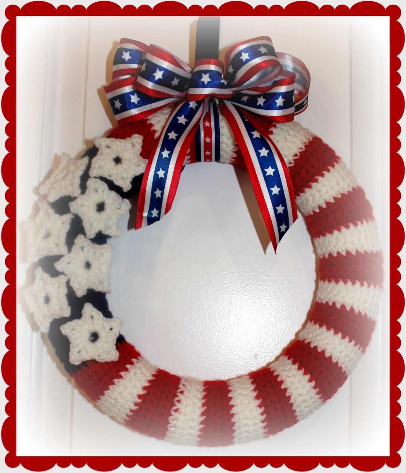 American Flag Wreath Crochet Pattern Petals To Picots ...