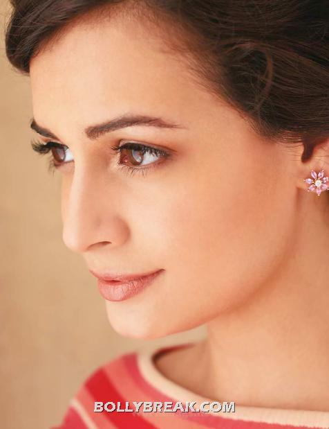Dia Mirza close up - (3) - Dia Mirza's Marie Claire July 2012