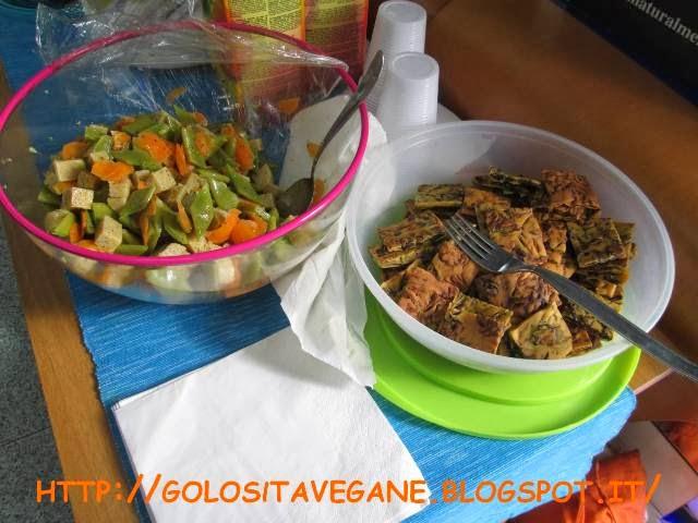 carote, farina di mais, grano saraceno, insalata, origano, Piatti unici, polenta, polenta taragna, ricette vegan, tegoline, tegoline larghe,