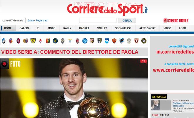 La prensa italiana se rinde ante Messi