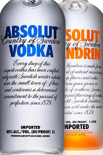 absolut vodka tipografia