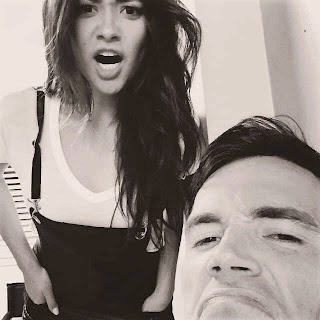 Shay Mitchell and Ian Harding PLL BTS