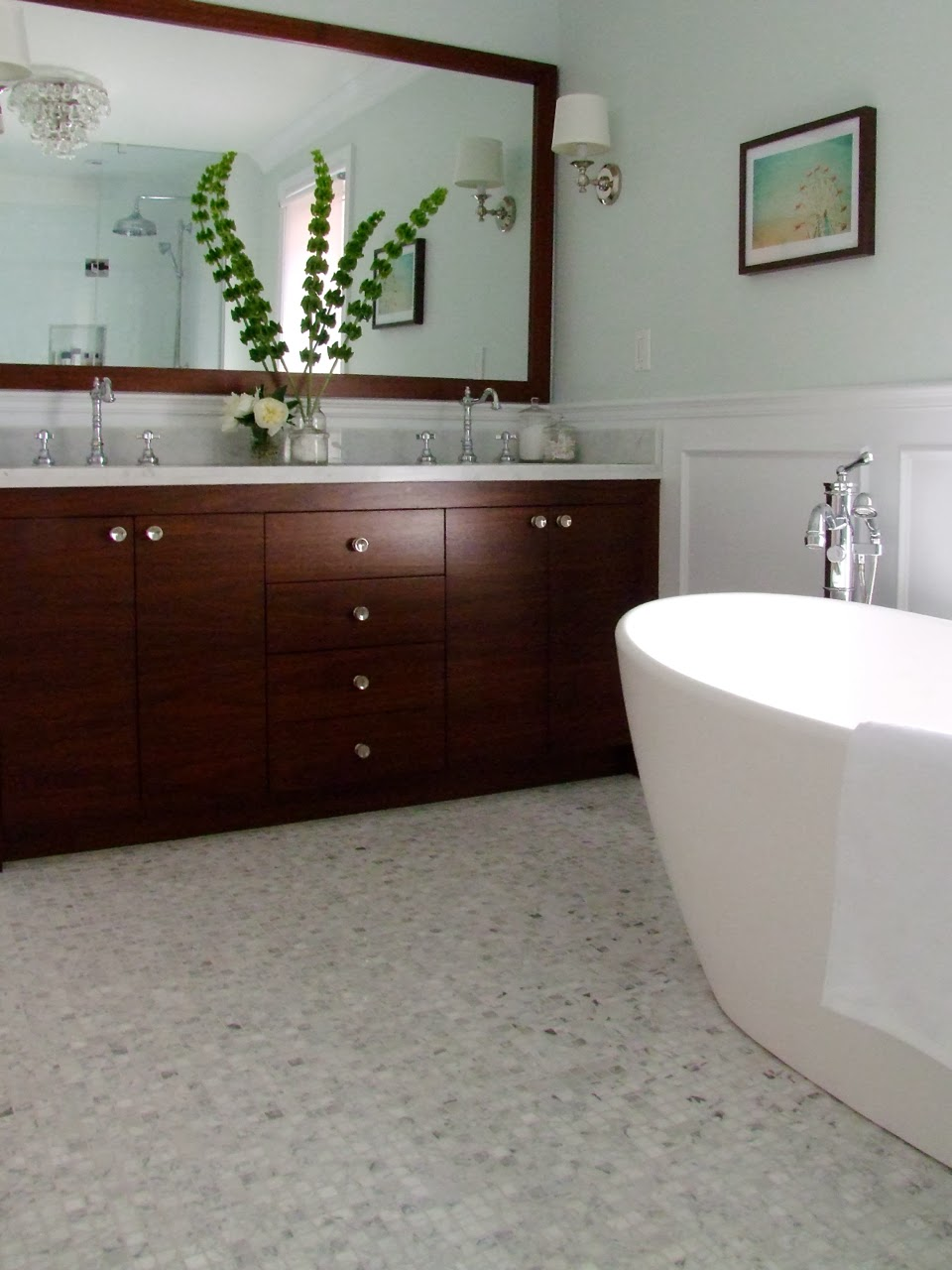 Creed janice 39 s bathroom before after photos for Carole kitchen and bath design ma