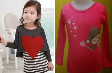 model baju kaos anak perempuan