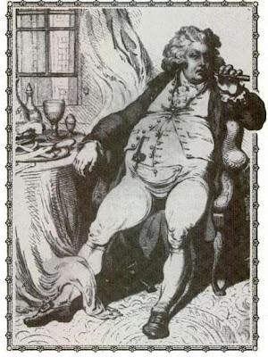 Jorge IV sufriendo su digestión