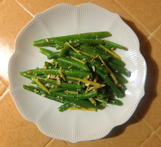Plate of Lemon-Ginger Green Beans