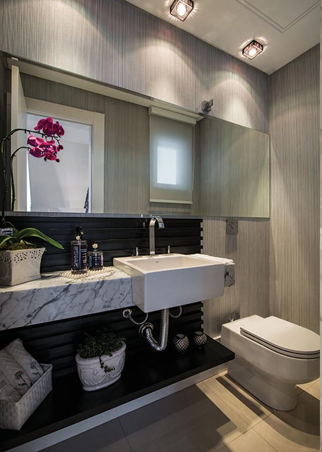 Lavabos cinzas modernos  veja modelos maravilhosos e dicas!  Decor Salteado -> Decoracao De Banheiro Branco E Cinza