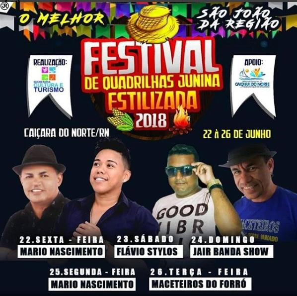 FESTIVAL JUNINO EM CAIÇARA DO NORTE/RN 2018