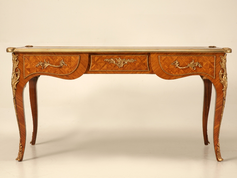 antique french furniture italian marquetry desk in