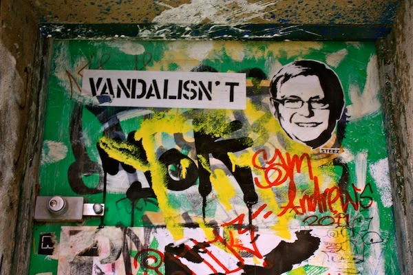 """is graffiti an art or vandalism An exhibition of graffiti at the indianapolis museum of art at newfields is adding  fuel to the debate over whether """"aerosol art"""" is art or vandalism."""