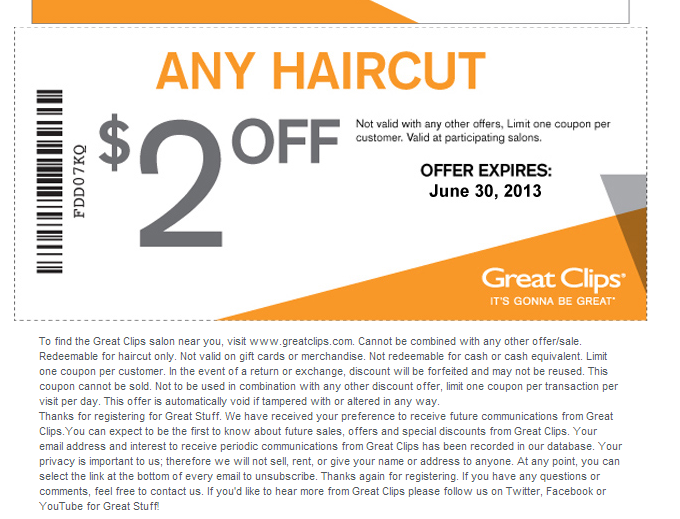 Coupons great clips printable