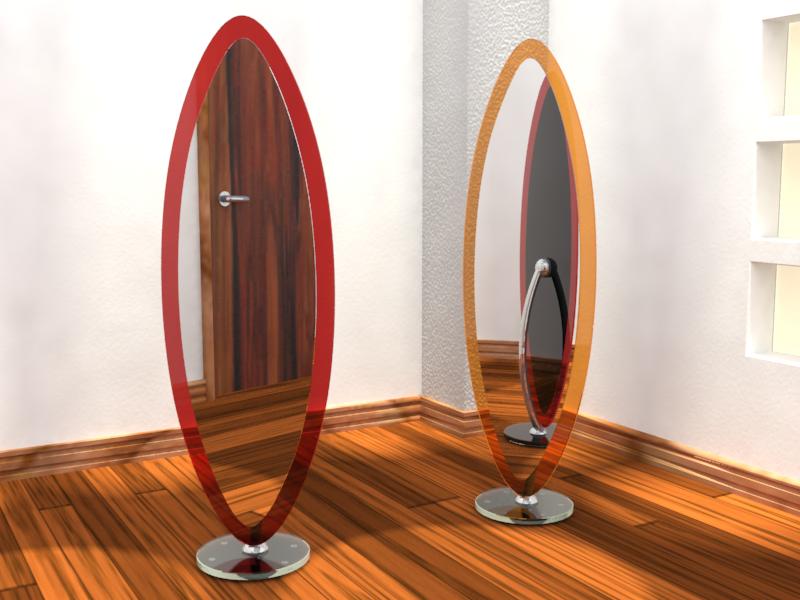 Dise o y arquitectura en vidrio espejos artesanales for Espejos de pie de diseno