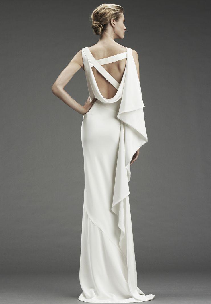 Whiteazalea simple dresses satin simple wedding dresses for Simple wedding dress design