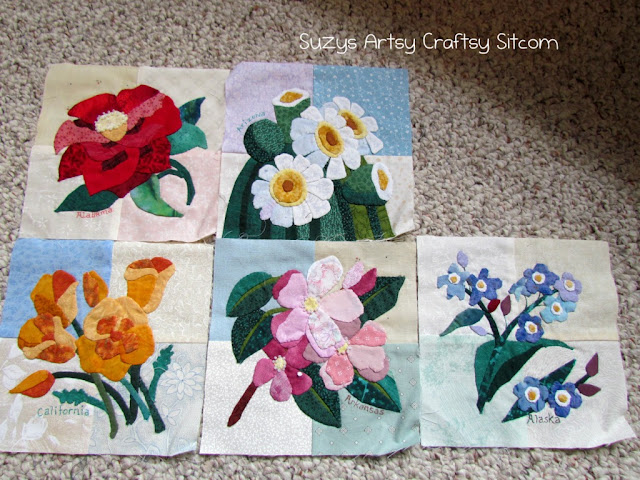 applique state flowers