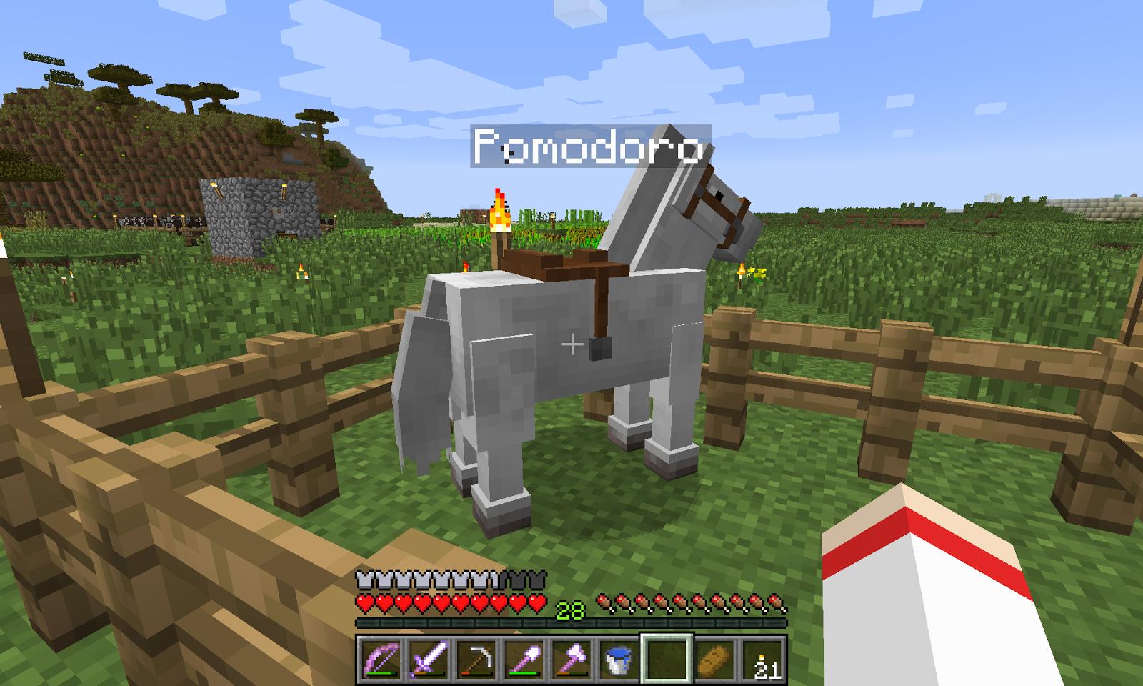 Pomodoro, el caballo | Vóxeles
