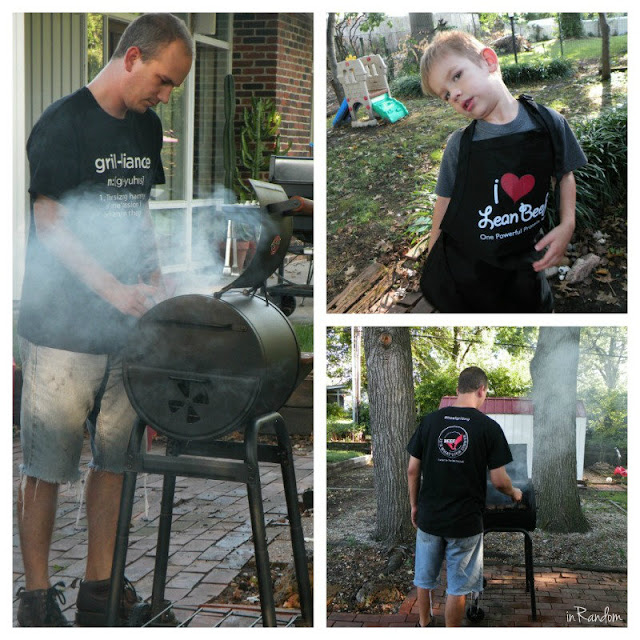 grilling on charcoal