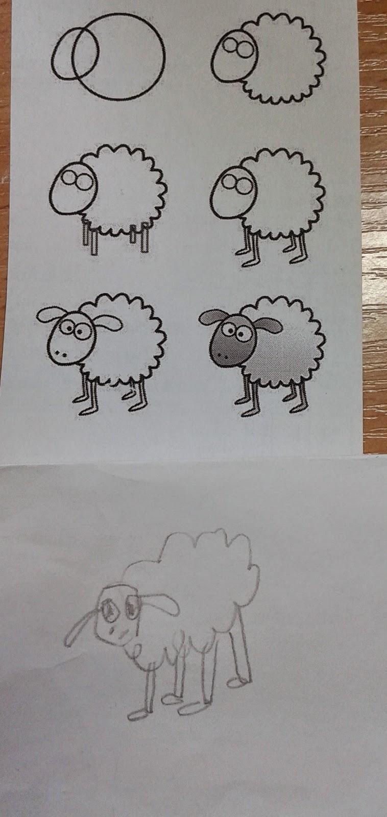 овечка рисунок