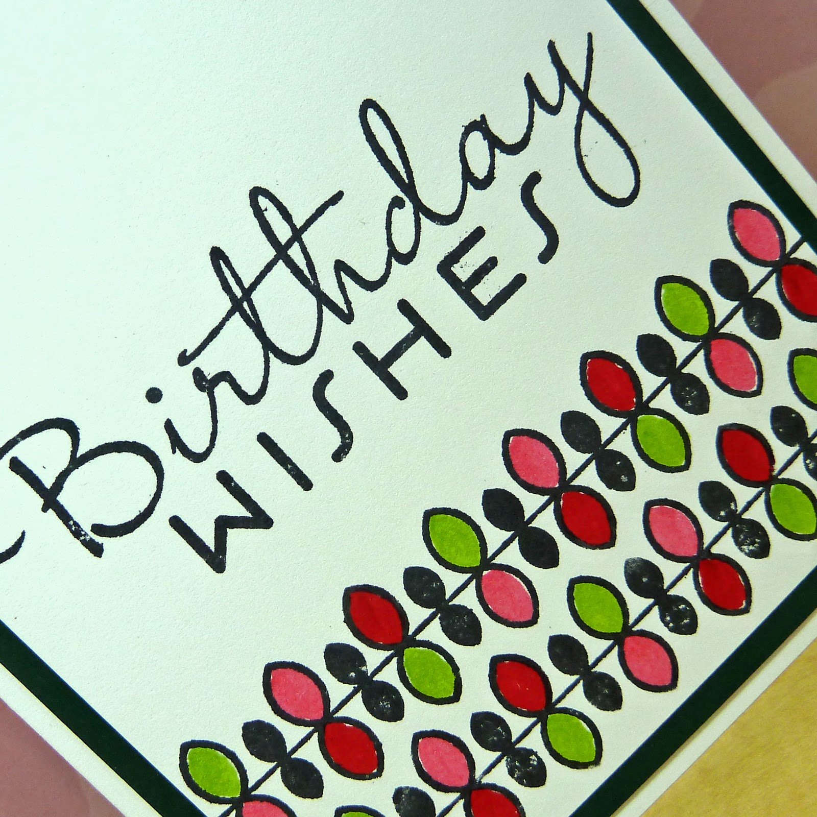 Cards-by-the-Sea: Birthday Wishes: Vines
