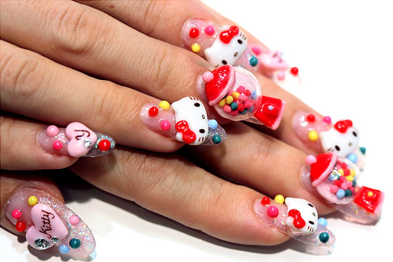 La Vie En Chocolat Crazy Nail Art