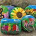 Waiting for Spring...... New floral and music themed felted soaps.