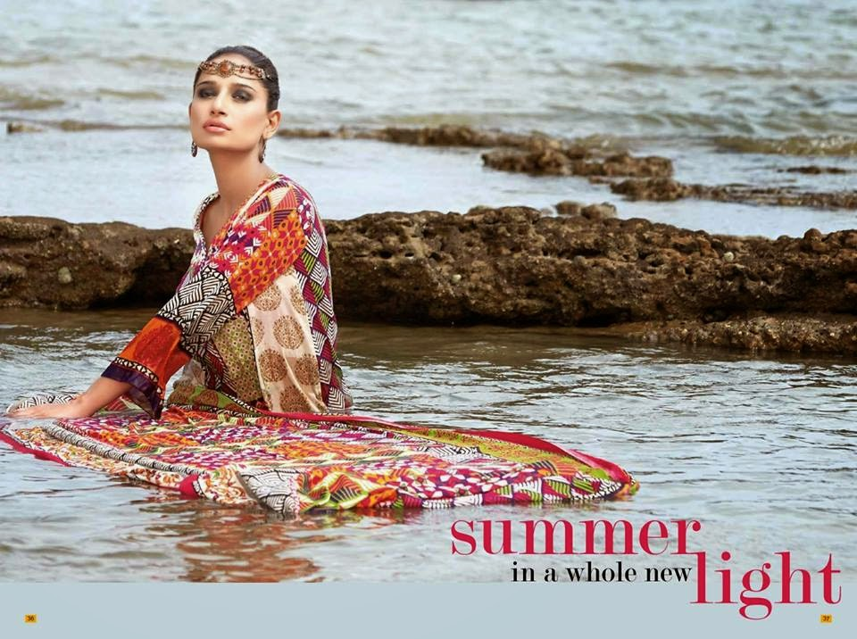 Pakistani lawn suits collection 2015