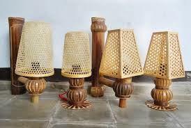 lampu hias dari bahan bambu