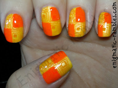 sunday-stamping-geometric-cheeky-plates-CH33-33-barry-m-mango-la-femme-ultra-gold-color-club-wham-pow