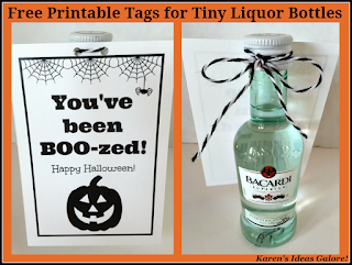 You've been Boo-zed (free printable tags)