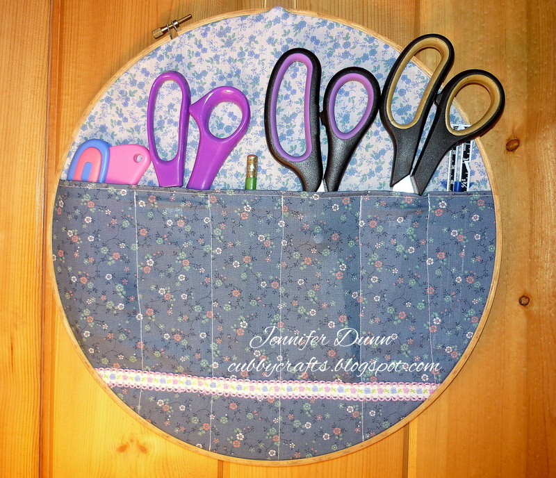 My cubby crafts embroidery hoop storage