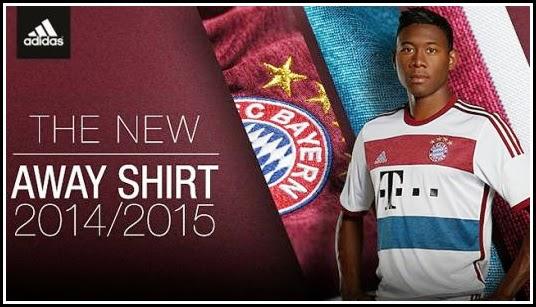 Jersey New Bayern Munchen Away 14-15
