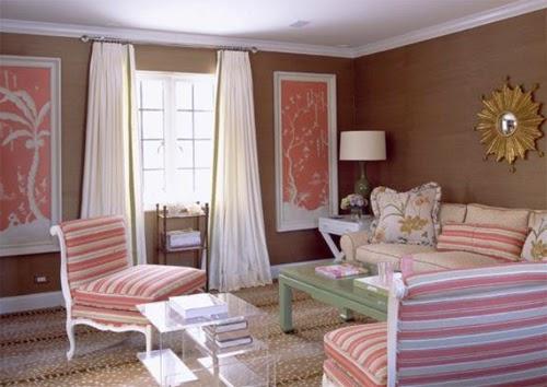 gambar interior rumah warna pink