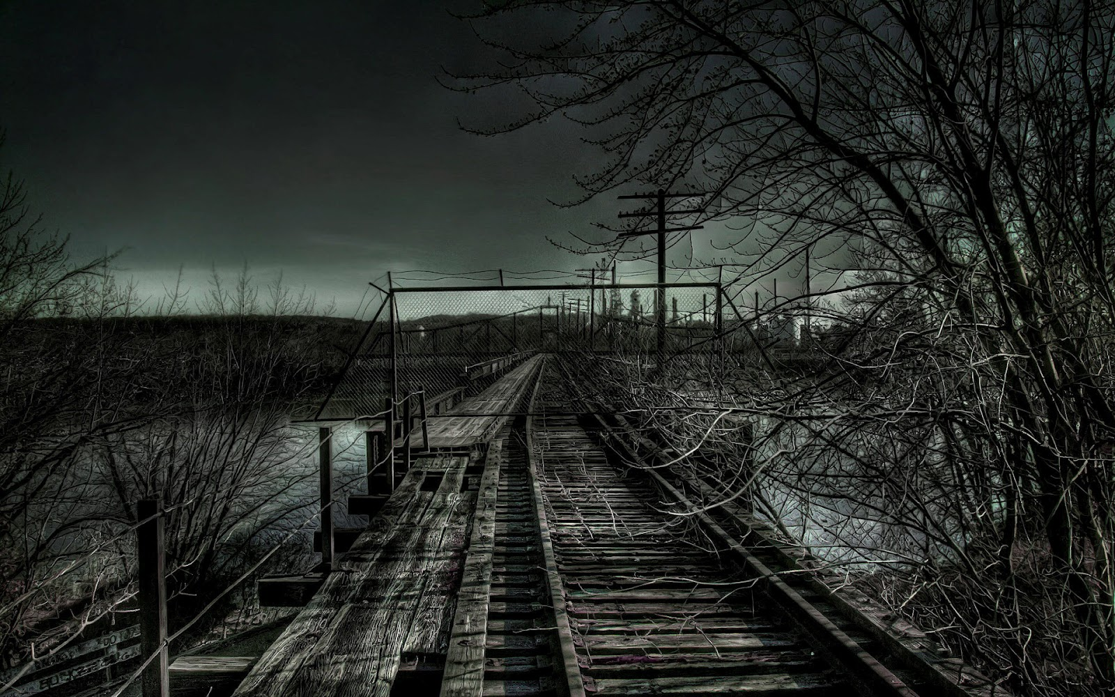 Spooky railway bridge wallpaper home of wallpapers for House of tracks