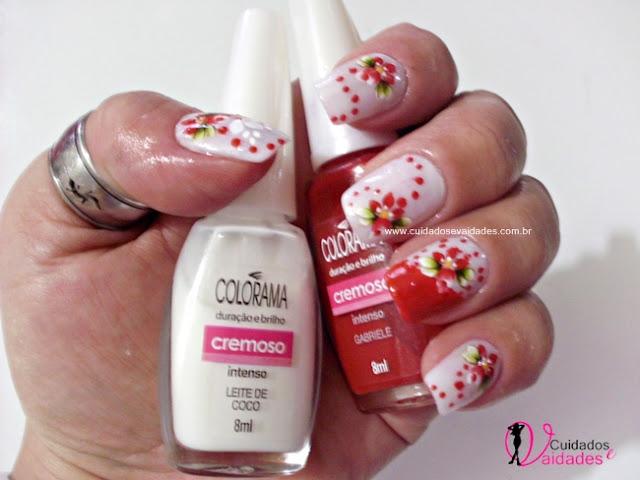 decorar unha branca:Unhas Rosa Decoradas Passo a Passo: Unhas Respingadas Lançamento