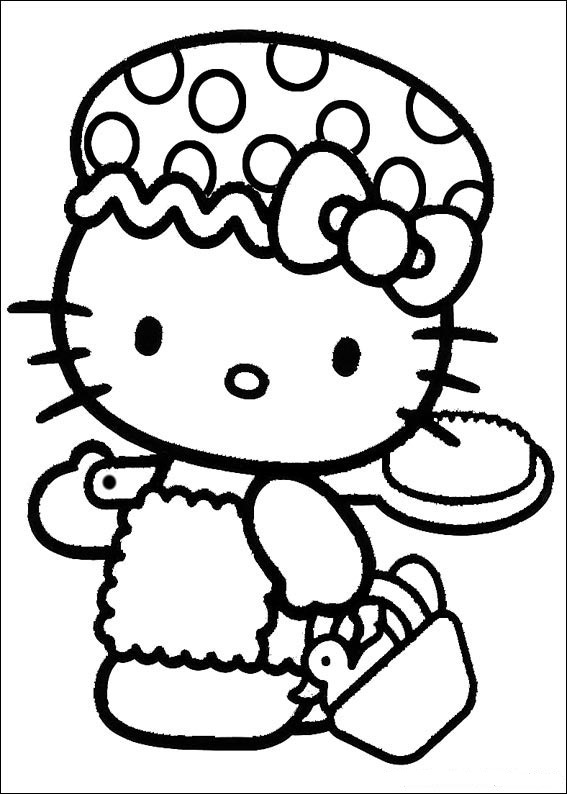 cute hello kitty coloring pages - photo#24