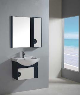 Pia mais armário de banheiro