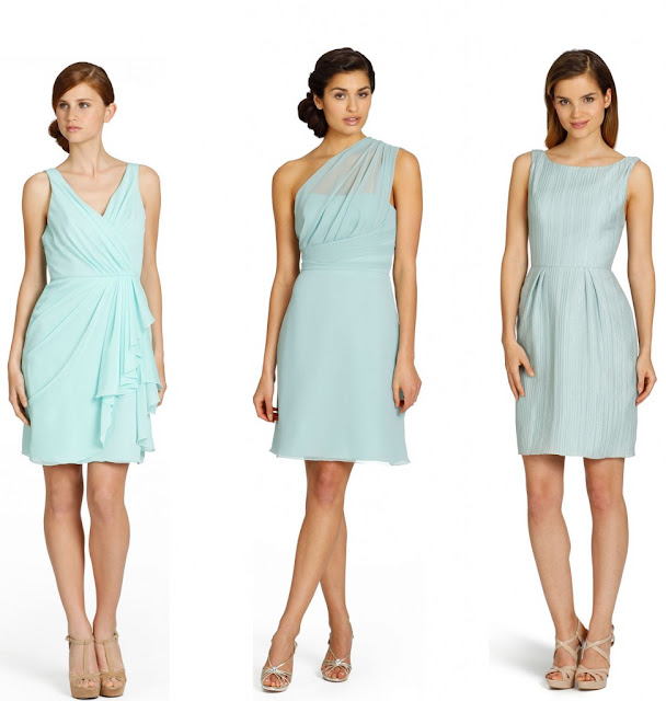 blue short bridesmaid dresses