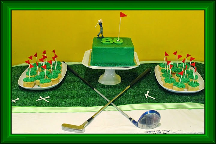 For My Father In Laws 80th Birthday Sister Law Yvonne Suggested We Have A Golf Theme Party Because It Is His Favorite Pastime And She Had