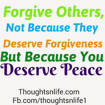 forgive others, thoughtsnlife