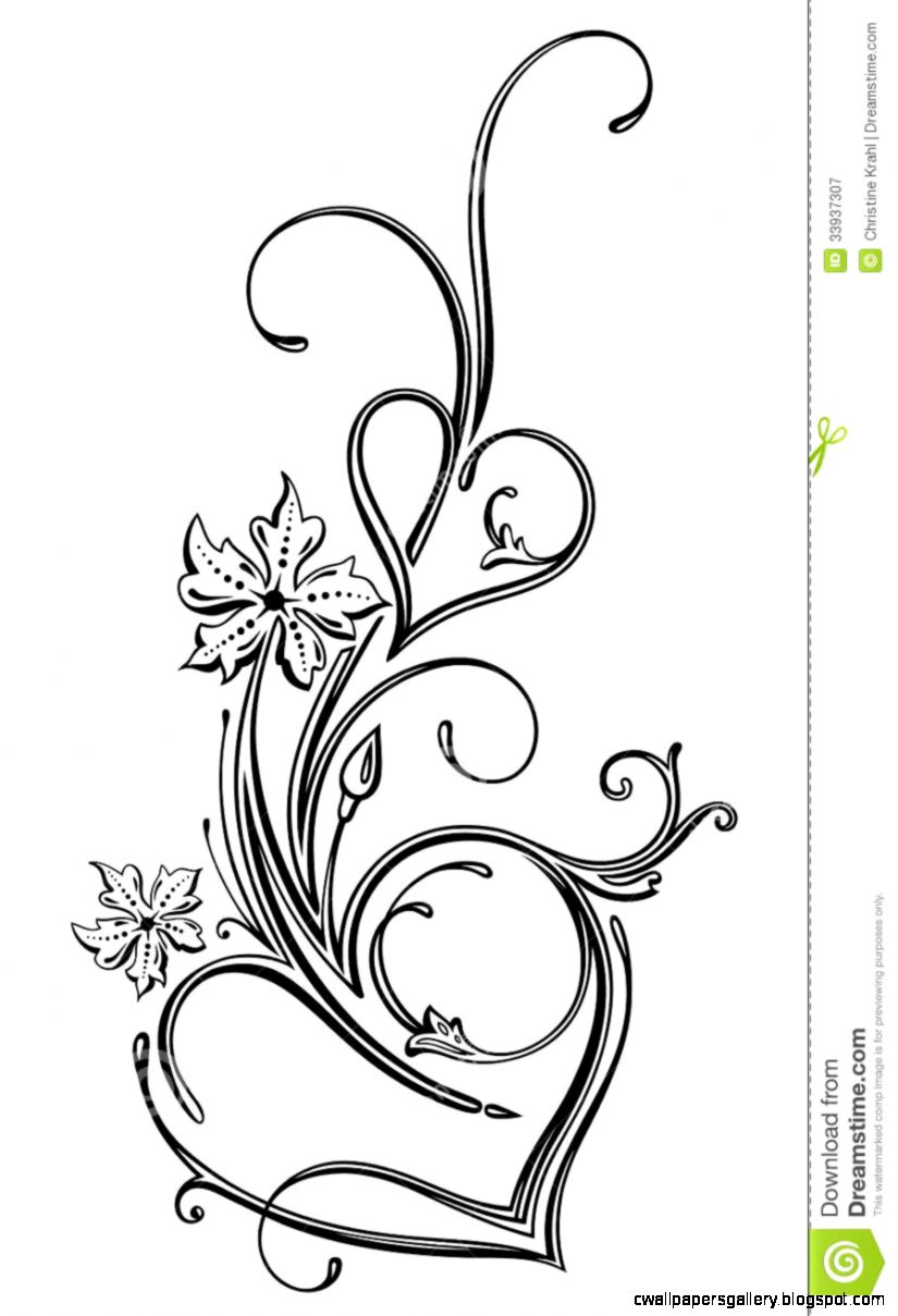 how to draw filigree heart step by step   Google Search  I heart